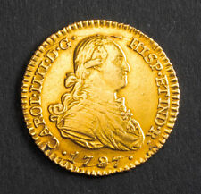 1797, Charles IV of Spain. Beautiful Spanish Gold 1 Escudo Coin. 3.33gm!