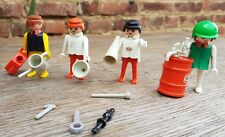 lot playmobil  figurine personnages Texaco Accesoire outil Garage fille garcon