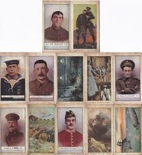 12 World War I Cigarette Cards / Trade Cards Soldiers War Images The Great War