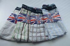 4 Pack ENGLISH LAUNDRY Check Boxer Shorts Underwear XL 31-34 100% Cotton NWT aa