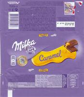 Plastic Chocolate Wrapper / Schokoladenpapier: Milka Caramel 100g; CE Ed, 2015