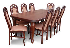 Designer Dining Table Dining Room Group Chair Tables Wood Table +8 Chairs New