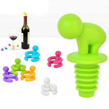1 Set Creative Cup Wine Glass Silicone Label Rubber Marker Bottle Stopper Cup Pt
