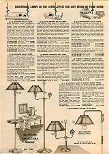 1961 ADVERTISEMENT 2 Pg Lamp Bullet Contemporary Danish Modern Cordey Porcelain