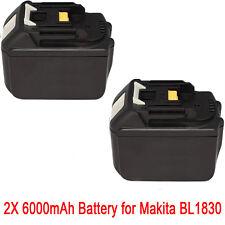 2x 18V 6.0AH Battery For Makita BL1860 BL1840 BL1830 BL1815 LXT Lithium Ion
