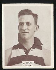 1933 Wills No. 198  George Todd, Geelong Large Football card r