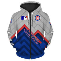 CHICAGO CUBS Hoodie Zip Up Zipper Hooded Pullover S-5XL Baseball Team Fans NEW