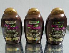 OGX Silicone Free Frizz Defy Moisture Shea Soft & Smooth Shampoo 13 oz Each.