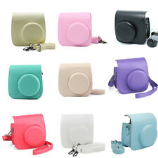 For Fujifilm Fuji Instax Mini 8 Polaroid Camera Leather Bag Shoulder Cover Case