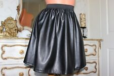 Black Elasticated PVC Ladies Mini Skirt Size 12