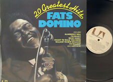 FATS DOMINO 20 Greatest Hits LP Holland BLUEBERRY HILL  I'm Walkin' BLUE MONDAY