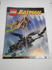 LEGO LEGOS  -  One  INSTRUCTION BOOK  for  Lego  Set #  7786  THE BATCOPTER