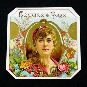 Havana Rose - Cigar Box Label