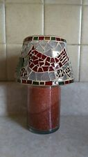 Home Interiors & Gifts Warm Cinnamon  pumpkin wood wick Candle Jar & Mosaic Set