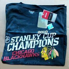 2010 Chicago BLACKHAWKS Hockey STANLEY CUP -- Reebok Men's LARGE #9758 -- SHIRT