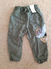 Girls Next BNWT Combat Embroidered Trousers 3-4yrs Rrp £21 Summer