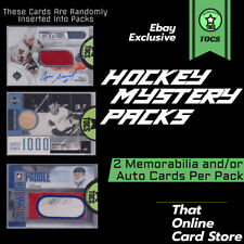 HOCKEY CARD MYSTERY PACK - 2 MEM OR AUTO CARDS PER PACK - HOWE/GILMOUR/SAVARD
