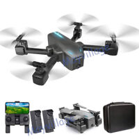 Selfie Drone 4K GPS HD Dual Camera 5G Foldable Aircraft RC Quadcopter +2 Battery
