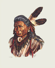 Native American Fine Art Artwork Print Indian Shaman Chief Western Southwest WT