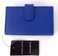 WILSONS LEATHER BLU Debbie Bifold Wallet Double Card case Faux Leather RFID Tech