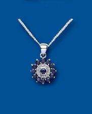 Sapphire Sterling Silver Fine Necklaces & Pendants