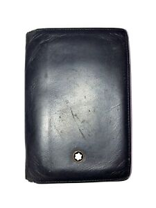 Mont Blanc Wallet Card Holder ID Black Leather