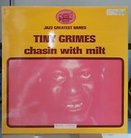 Rare LP  Tiny Grimes  Chasin With Milt - Black And Blue 33 017-FRANCE  NM / MINT