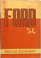 1954 FORD USA MANUEL D'ENTRETIEN MOTEUR 6 ET 8 CYLINDRES