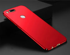 360° Degree 4 Side Covered Matte Hard Back Case Cover For Xiaomi Mi A1 RED