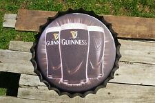 Guinness Beer Bottle Cap Tin Metal Sign - Pint Glass - Dublin - Dry Stout