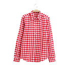 Teen Girls Red Checked Shirt Top Blouse Warm New Brushed Flannel Cotton Age11-14