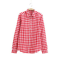 Teen Girls Checked Shirt Top Blouse New Brushed Flannel Cotton Age11-14