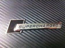 2 Qty Supercharged Black Sticker 3D Maruti Suzuki Swift Dzire Alto K10 800 SX4