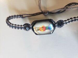 Santa Muerte Pulsera Hecha a Mano 7 Poderes, Holy Death Reaper Bracelet Rainbow