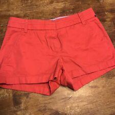 8f05c8ba422 Ladies J. CREW Dark Pink 100% Cotton Broken-In Chino Shorts EUC Sz