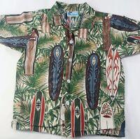 RJC Made In USA Button Shirt Hawaiian Cruise Vacation Bahamas Cabana Sz 6 Boys