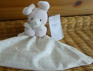 Marks Spencer BNWT Pink Bunny With Stars Blankie/Comforter. 01296198