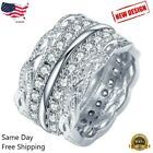 Gorgeous 925 Silver Rings For Women White Sapphire Jewelry Wedding Ring Sz 6-10