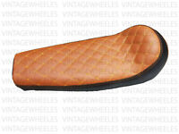 Royal Enfield Interceptor 650cc Custom Made Cushioned Dual Seat For Comfort Tan