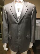 Cavelli Men's 100%Wool Sport Coat Blazer Jacket SZ 41R Gray 3 Button $295