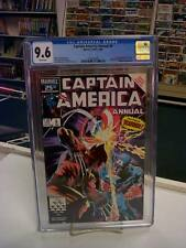 CAPTAIN AMERICA ANNUAL #8 (Marvel, 1986) CGC Graded 9.6! ~Wolverine ~White Pages