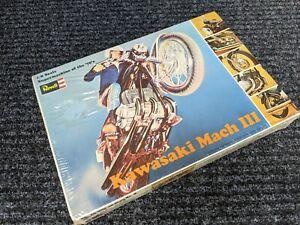 KAWASAKI MACH III MOTORCYCLE MODEL KIT BY REVELL MINT IN BOX ORIGINAL 1970