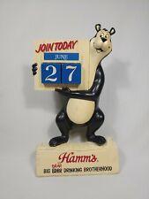Hamm's Big Beer Bear Drinking Brotherhood Advertising Calendar