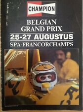 BELGIAN GRAND PRIX FORMULA ONE F1 1989 SPA FRANCORCHAMPS Official Programme