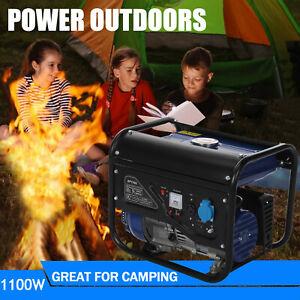 Portable Petrol Generator 1100w Bohmer Electric - 3HP 4-Stroke Camping Power