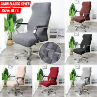 Computer Chair Seat Cover Slipcover Elastic Removable Dining Office Meeting Room