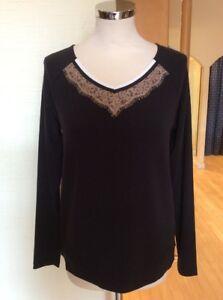 Riani Sweater Size 16 BNWT Black Sand Cream RRP £125 Now £29