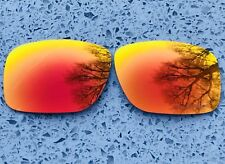 ETCHED POLARIZED FIRE RED MIRRORED REPLACEMENT OAKLEY HOLBROOK LENSES