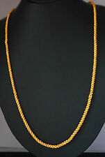 18k Indian gold plated chain elegant necklace Ethnic Asian gold JEWELRY U26