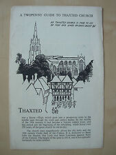 VINTAGE 1950's TOURIST GUIDE BROCHURE - TWOPENNY GUIDE TO THAXTED CHURCH
